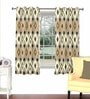 Skipper Multicolour Viscose & Polyester 44 x 60 Inch Eyelet Window Curtain (Model No: 088427)