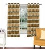 Skipper Multicolour Viscose & Polyester 44 x 60 Inch Eyelet Window Curtain (Model No: 090446)