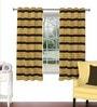 Skipper Multicolour Viscose & Polyester 44 x 60 Inch Eyelet Window Curtain (Model No: 090455)