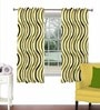 Multicolour Viscose & Polyester 44 x 60 Inch Eyelet Window Curtain (Model No: 092272) by Skipper