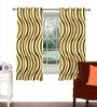 Skipper Multicolour Viscose & Polyester 44 x 60 Inch Eyelet Window Curtain (Model No: 092274)