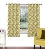Skipper Multicolour Viscose & Polyester 44 x 60 Inch Eyelet Window Curtain (Model No: 092278)