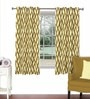 Skipper Multicolour Viscose & Polyester 44 x 60 Inch Eyelet Window Curtain (Model No: 092279)