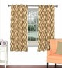 Skipper Multicolour Viscose & Polyester 44 x 60 Inch Eyelet Window Curtain (Model No: 092281)