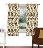 Skipper Multicolour Viscose & Polyester 44 x 60 Inch Eyelet Window Curtain (Model No: 092763)
