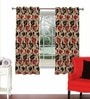 Multicolour Viscose & Polyester 44 x 60 Inch Eyelet Window Curtain (Model No: 092764) by Skipper