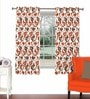 Multicolour Viscose & Polyester 44 x 60 Inch Eyelet Window Curtain (Model No: 092766) by Skipper