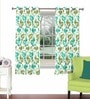 Skipper Multicolour Viscose & Polyester 44 x 60 Inch Eyelet Window Curtain (Model No: 092770)