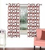 Skipper Multicolour Viscose & Polyester 44 x 60 Inch Eyelet Window Curtain (Model No: 092775)