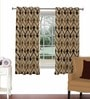 Skipper Multicolour Viscose & Polyester 44 x 60 Inch Eyelet Window Curtain (Model No: 092783)