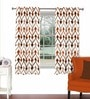 Multicolour Viscose & Polyester 44 x 60 Inch Eyelet Window Curtain (Model No: 092784) by Skipper