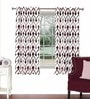 Skipper Multicolour Viscose & Polyester 44 x 60 Inch Eyelet Window Curtain (Model No: 092785)