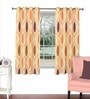 Multicolour Viscose & Polyester 44 x 60 Inch Eyelet Window Curtain (Model No: 092847) by Skipper