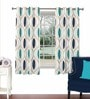 Multicolour Viscose & Polyester 44 x 60 Inch Eyelet Window Curtain (Model No: 092852) by Skipper