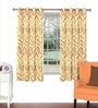 Multicolour Viscose & Polyester 44 x 60 Inch Eyelet Window Curtain (Model No: 092854) by Skipper