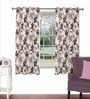 Purple Viscose & Polyester 44 x 60 Inch Eyelet Window Curtain (Model No: 090016) by Skipper