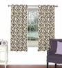 Purple Viscose & Polyester 44 x 60 Inch Eyelet Window Curtain (Model No: 091200) by Skipper