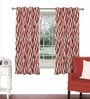 Red Viscose & Polyester 44 x 60 Inch Eyelet Window Curtain (Model No: 090001) by Skipper