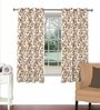 Rust Viscose & Polyester 44 x 60 Inch Eyelet Window Curtain (Model No: 089983) by Skipper