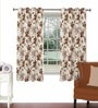 Rust Viscose & Polyester 44 x 60 Inch Eyelet Window Curtain (Model No: 090015) by Skipper