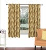 Rust Viscose & Polyester 44 x 60 Inch Eyelet Window Curtain (Model No: 090691) by Skipper