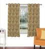 Skipper Rust Viscose & Polyester 44 x 60 Inch Eyelet Window Curtain (Model No: 090700)