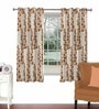Skipper Rust Viscose & Polyester 44 x 60 Inch Eyelet Window Curtain (Model No: 090745)