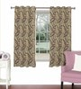 Skipper Violet Viscose & Polyester 44 x 60 Inch Eyelet Window Curtain (Model No: 090705)