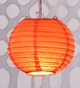 Orange Round Paper Diwali Lantern by Skycandle