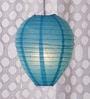 Blue Paper Lantern by Skycandle