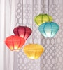 Multicolour Diamond Paper Lantern - Set of 5 by Skycandle