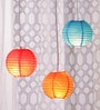 Red, Blue, & Orange Paper Lantern - Set of 3 by Skycandle