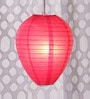 Pink Oval Paper Lantern by Skycandle
