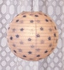 Printed White Floral Paper Lantern by Skycandle