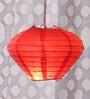 Red Diamond Paper Lantern by Skycandle