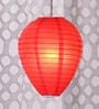 Red Oval Paper Lantern by Skycandle