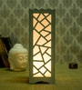 White Wood Table Lamp by Skycandle