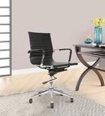 Sleek Design Ergonomic Mid Back Chair in Black Colour