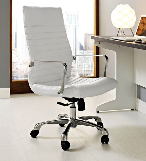 Sleek Line Executive Chair In White