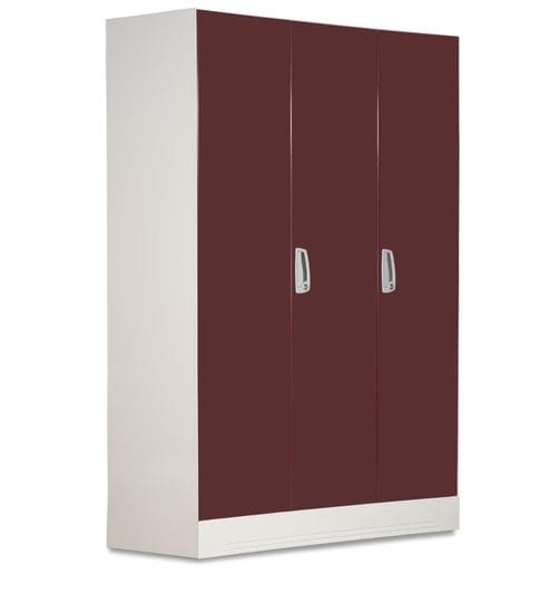 5e62ad51c Buy Slimline Three Door Wardrobe with Locker in Russet Color by Godrej  Interio Online - Modern 3 Door Wardrobes - Wardrobes - Furniture -  Pepperfry Product
