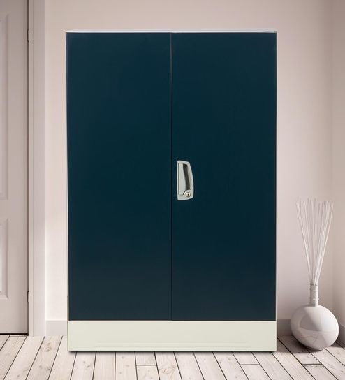 Buy Slimline Two Door Wardrobe With Locker In Pacific Blue