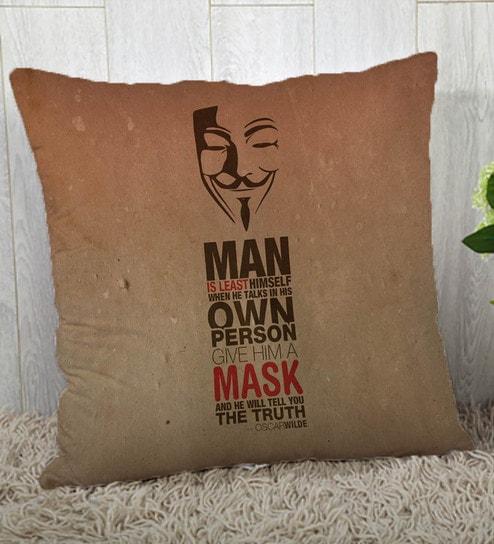 Slogan Silk 16 x 16 inch Cushion Cover by Stybuzz
