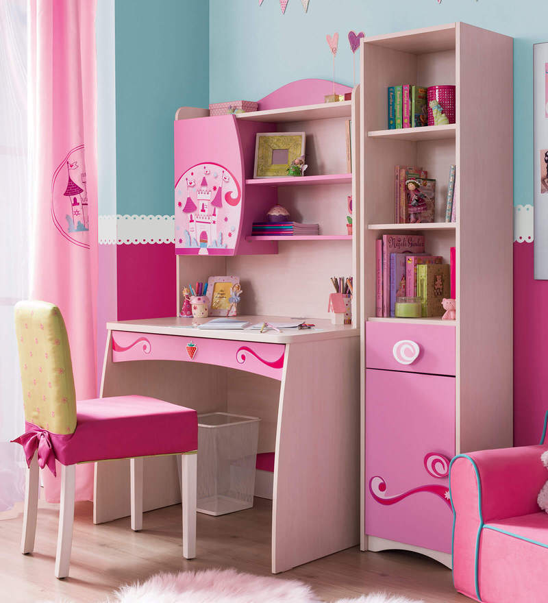 Buy Sl Princess Study Desk With Unit By Cilek Room Online