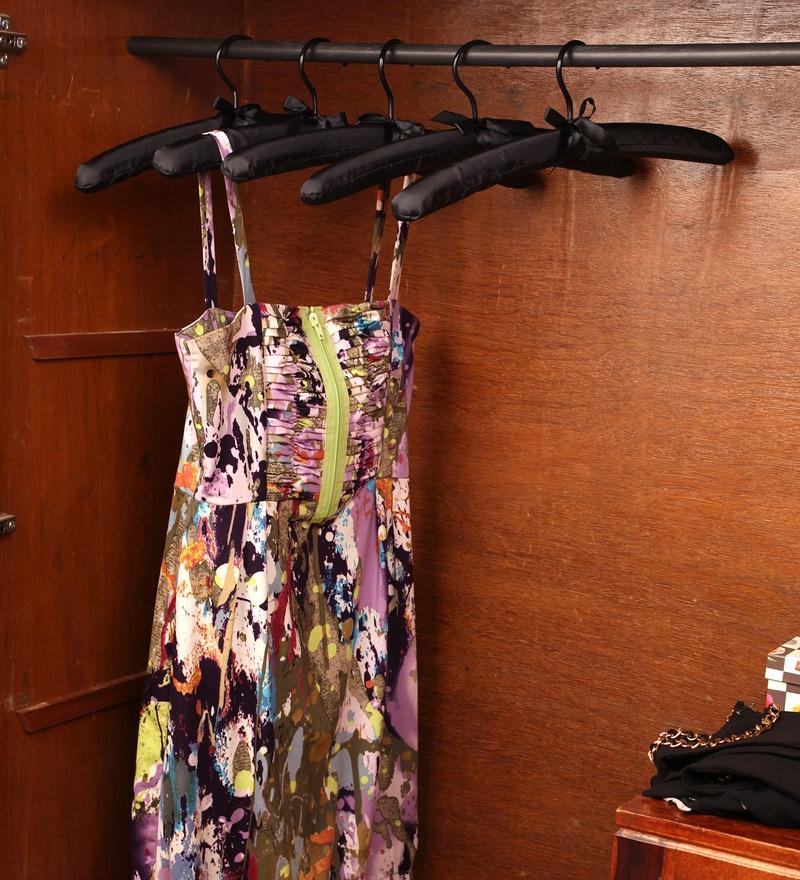 Satin Black Clothes Hanger - Set of 6 by Sleek