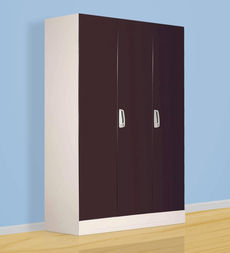 Buy Slimline Three Door Wardrobe With Drawer By Godrej