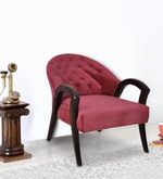 Smooth Single Seater Sofa in Red Colour