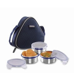 Smart Lock Classic Airtight Tiffin Pack Stainless Steel Lunch  Box - Set Of 3