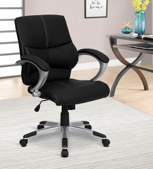 Smart Executive Chair In Black Colour By Adiko System