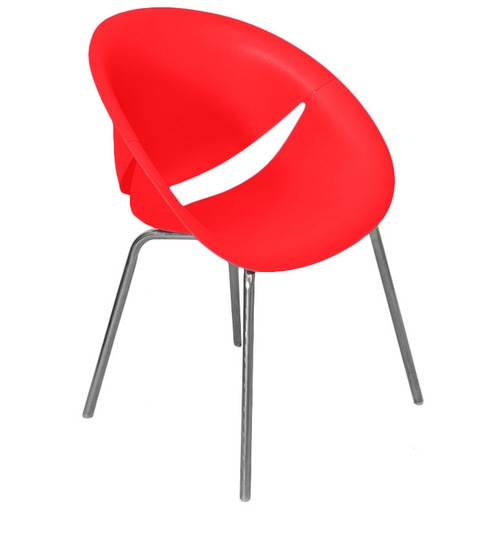 Smile Bright Red Reception Chair By Nilkamal