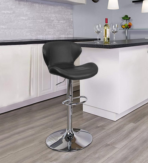 Fine Smiley Bar Stool With Height Adjustable In Black By Workspace Interio Theyellowbook Wood Chair Design Ideas Theyellowbookinfo